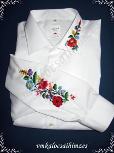 B.G.H. kalocsai fehér férfi ing
