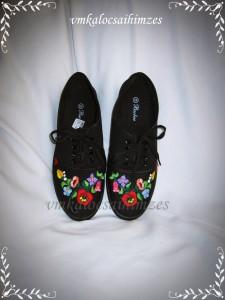 E. E. fekete kalocsai cipő