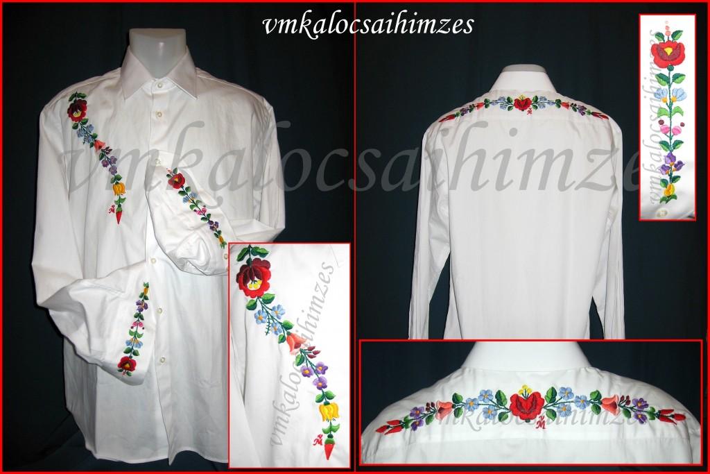 M. Attila fehér ing