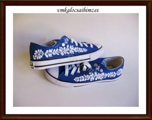 M. Zsuzsanna cipő öreg kalocsai mintával