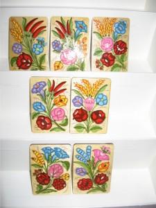 Hűtőmágnesek fából, kézzel festve
