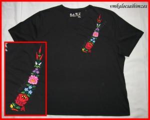 B.S. kalocsai fekete póló