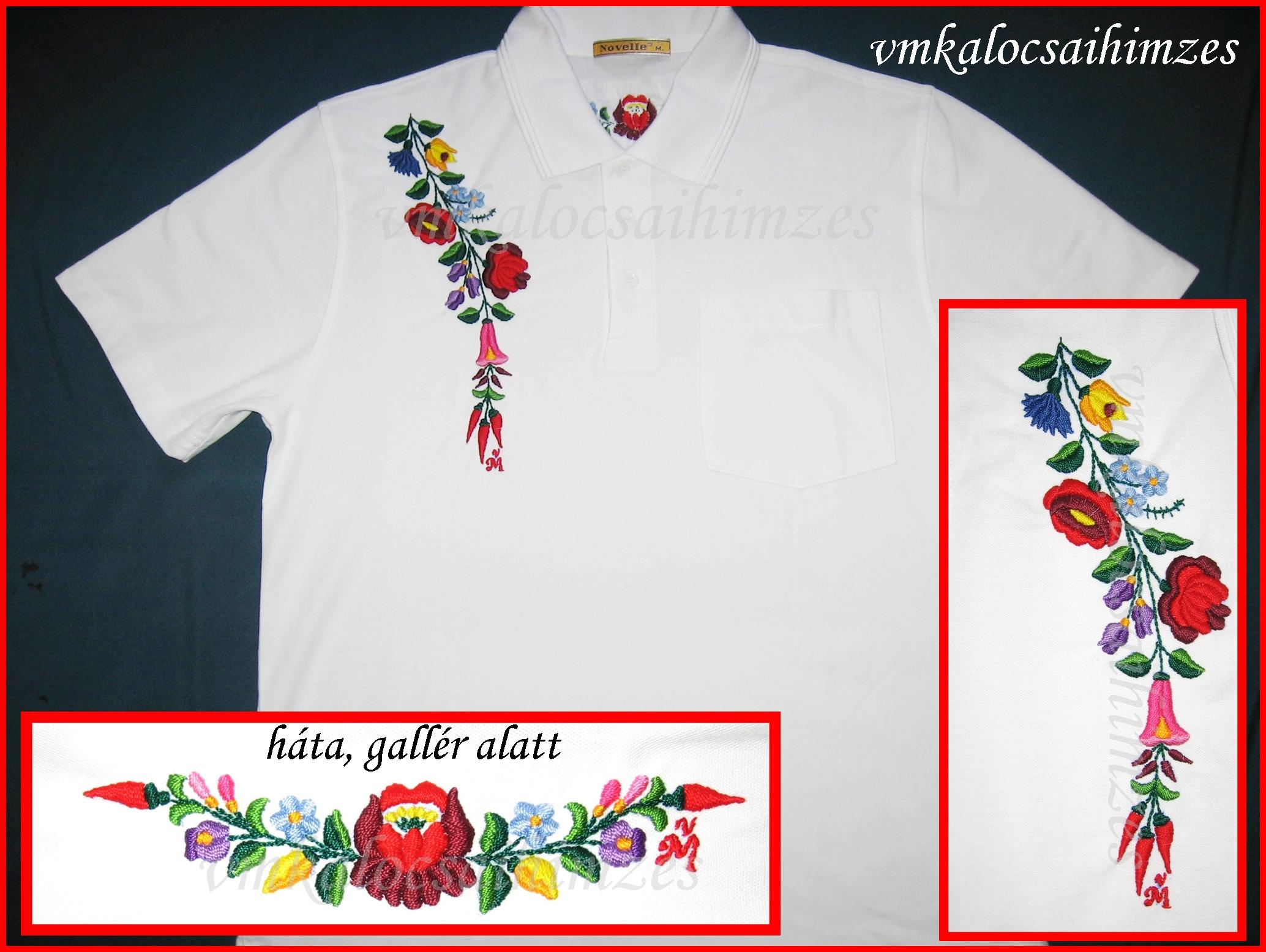 d1a8d54765 Pólók | VM kalocsai hímzés