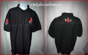 L.Á. fekete kalocsai póló