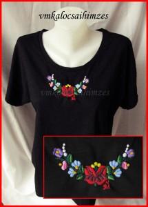 U.Krisztina kalocsai fekete póló
