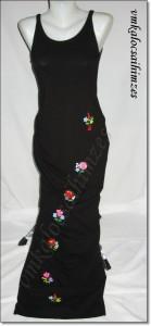 fekete ruha kalocsai hímzéssel