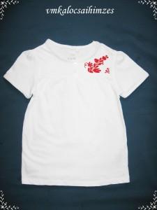 110-es fehér póló